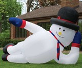 Big Gay Inflatable Snowman