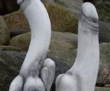 Cement Penis Garden Statue (NSFW)