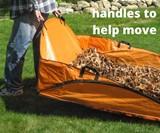 EZ Leaf Hauler Cleanup Tarp for Lawns & Gardens