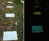 Glow Stones Installed on Stepping Pads