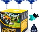 Lawn Mower Blade Sharpener Drill Attachment Kit