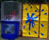 Man Dunked in Backyard Dunk Tank