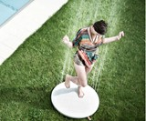 Woman in Outdoor Shower