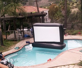"110"" Swimming Pool Movie Screen"