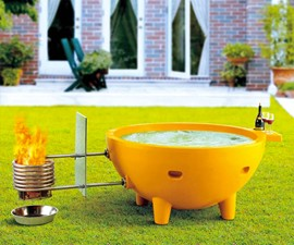 ALFI Wood-Burning Hot Tub