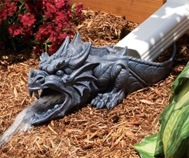 Dragon Downspout Statue