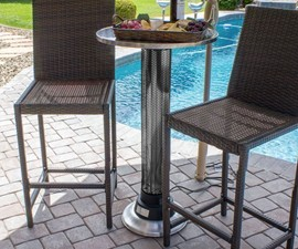 Indoor/Outdoor Heat Lamp Table