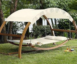 Outdoor Patio Arch Swing