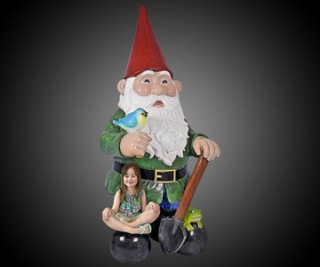 8-1/2-Foot-Tall Garden Gnome Statue