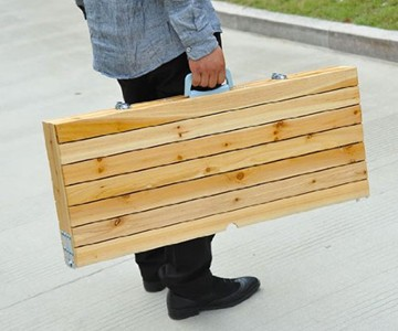 Picnic Table in a Suitcase