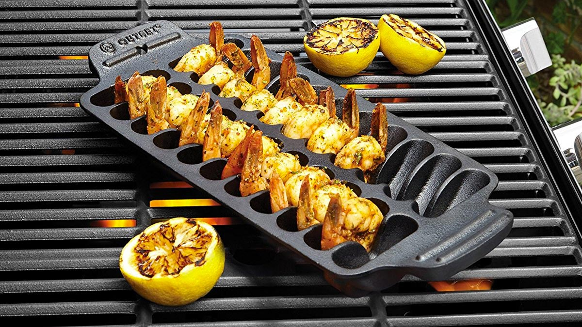 Cast Iron Shrimp Grill & Serving Pan