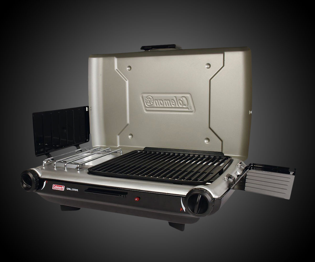 stove with grill. coleman perfectflow instastart grill stove with