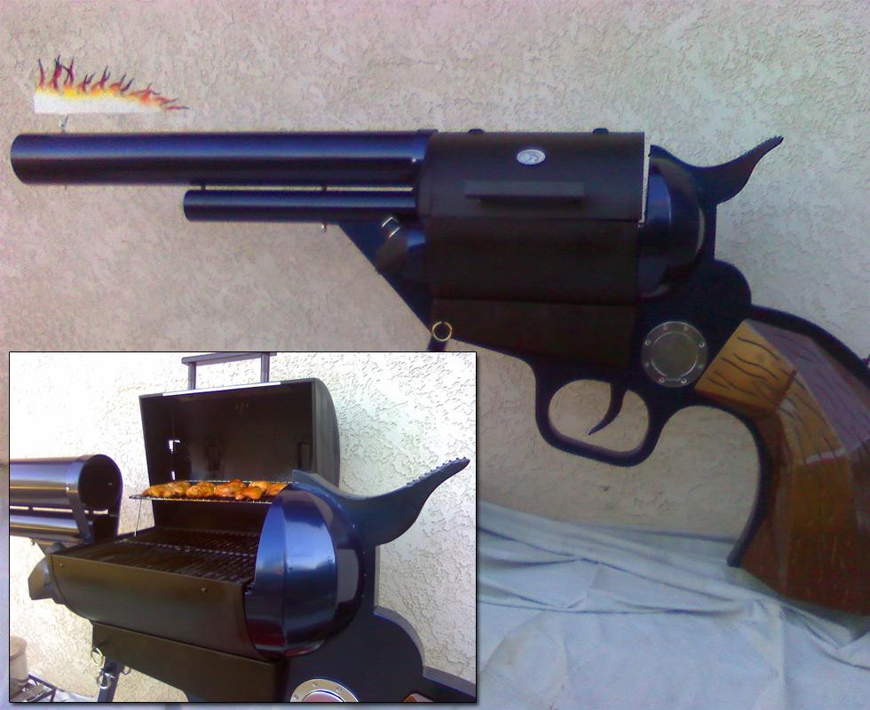 Colt .45 BBQ Grill   DudeIWantThat.com