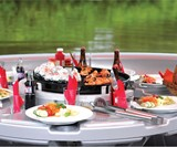 The Barbecue Dining Boat Closeup