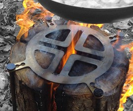 Swedish Fire Torch Log Grill