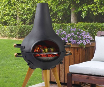 Aniva Cosa Transforming Chiminea & Grill | DudeIWantThat.com