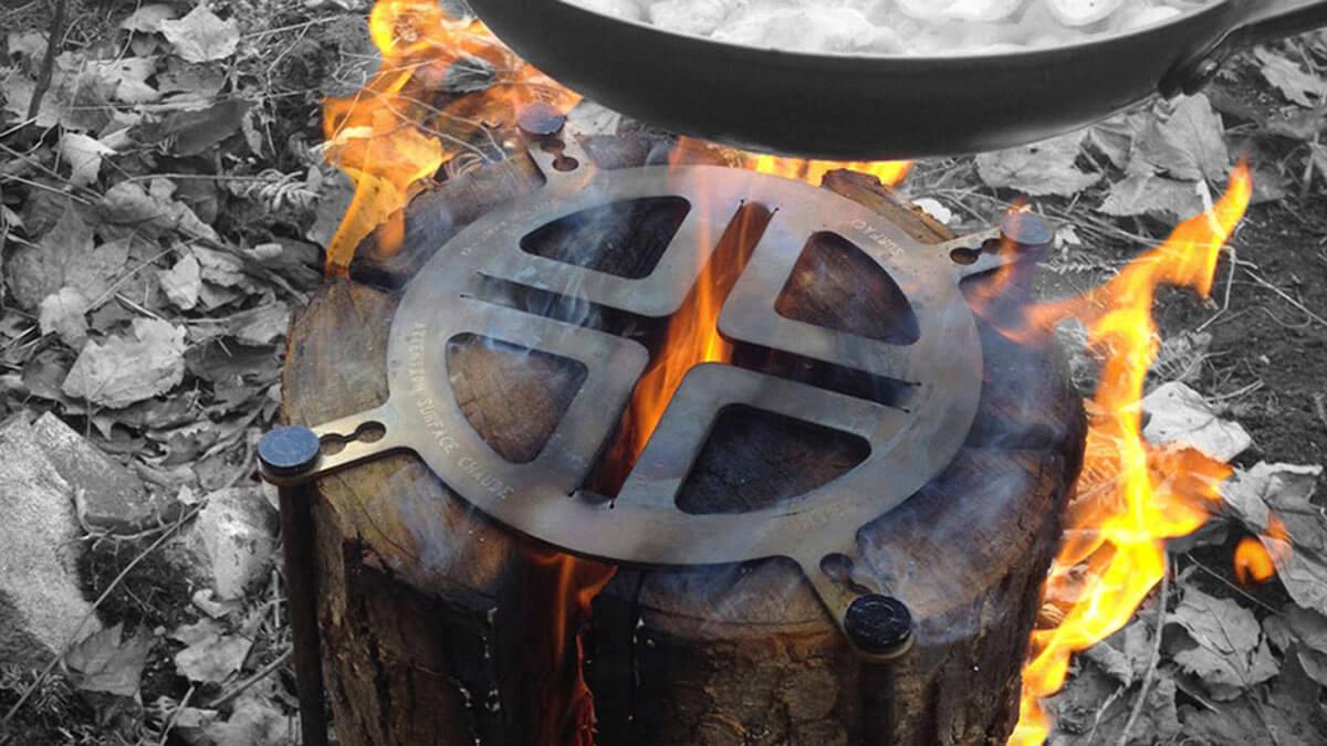 Swedish Fire Torch Log Grill