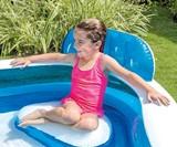 Backyard Inflatable Pool with Seats
