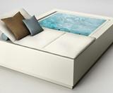 Quadrat Pool Relax - Mini Infinity Pool & Lounger