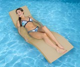 TerraSol Sonoma Chaise Lounge - Deck Chair & Pool Float