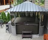 Zento Hot Tub Gazebo with Bar