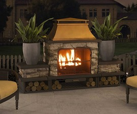 Bel Aire Outdoor Fireplace