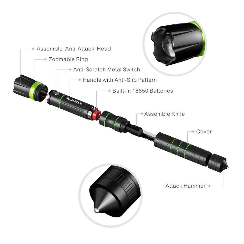 Kootek Self Defense Flashlight Dudeiwantthat Com