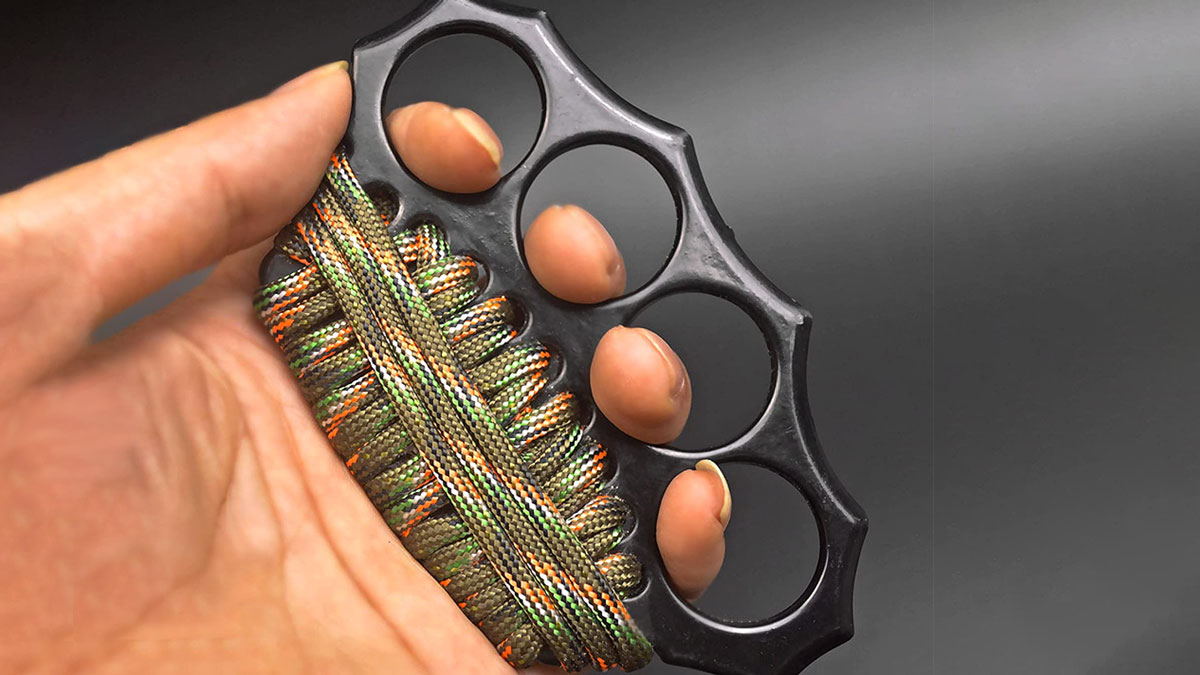 Paracord-Wrapped Knuckle Duster