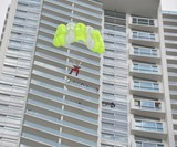 SOS Parachute - High-Rise Building Escape System