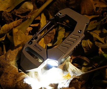 MecArmy Ttitanium Carabiner Flashlight
