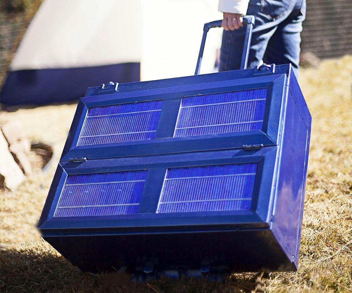 Solar Powered Mini Fridge Solar Powered Anywhere Fridge Dudeiwantthatcom