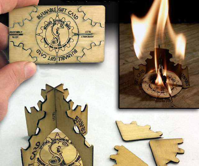 Wazoo Survival Gear Kindling Gift Card Dudeiwantthat Com