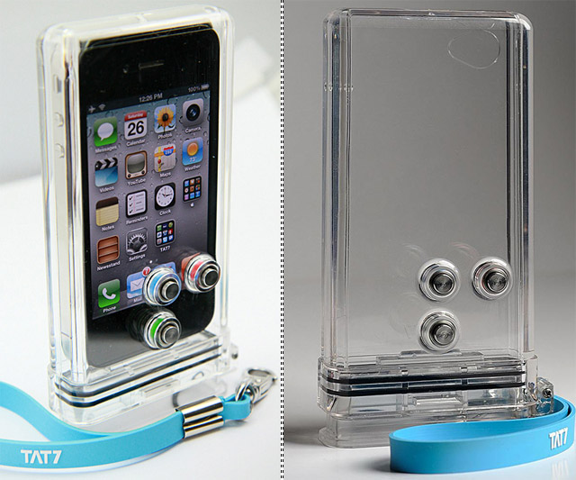 iPhone SCUBA Case With and Without iPhone