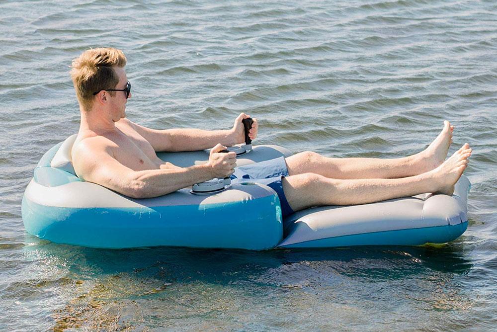 Splash Runner Motorized Inflatable Pool Lounger
