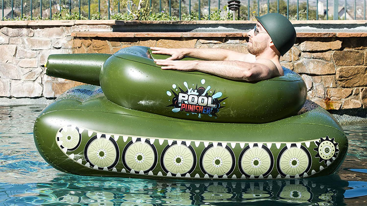Pool Punisher Inflatable Tank with Squirt Gun