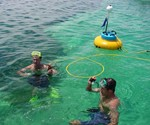 Two Guys Using Snorkel Hookah