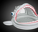 Roarin' Shark Inflatable Pool