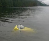 SportSub Solo Submarine Descending in Water