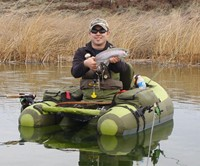 Inflatable Fishing Float with Backpack Straps