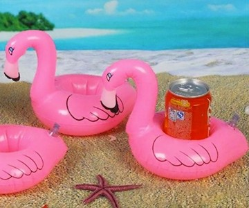 Inflatable Pink Flamingo Coasters