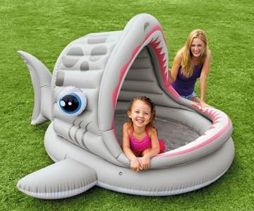 Roarin' Shark Inflatable Pool