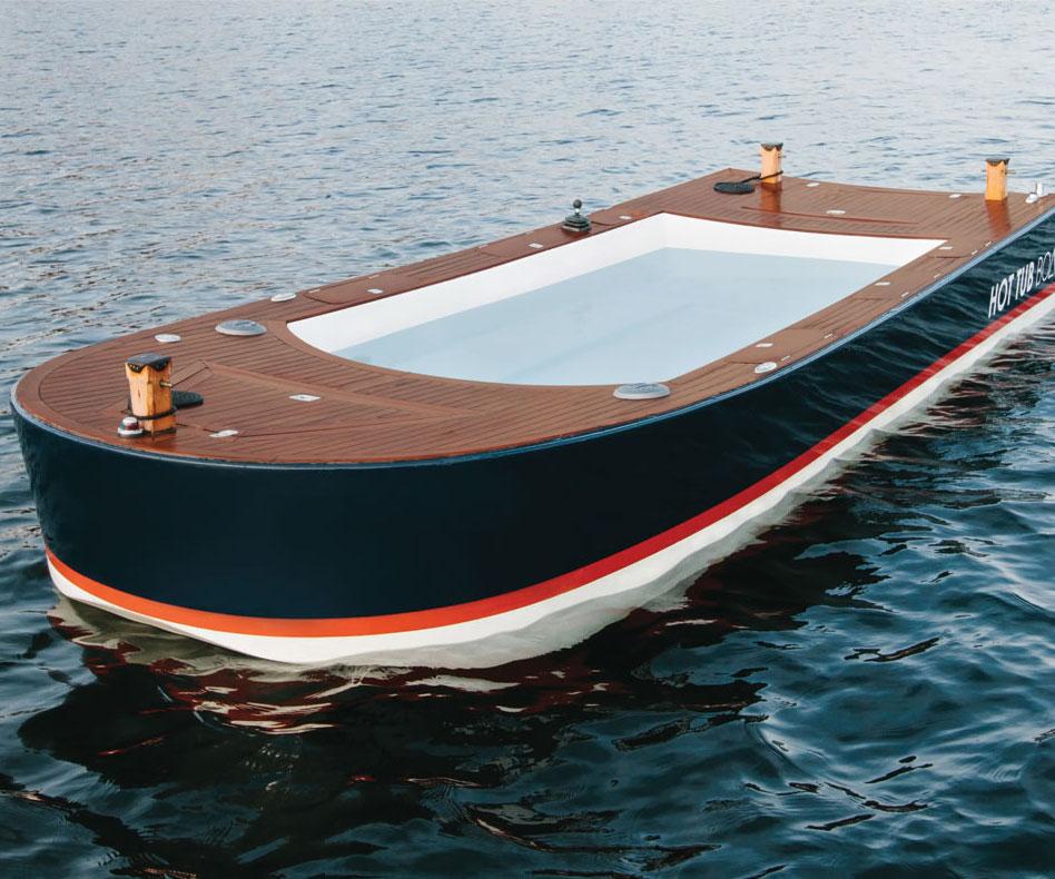 the hot tub boat. Black Bedroom Furniture Sets. Home Design Ideas