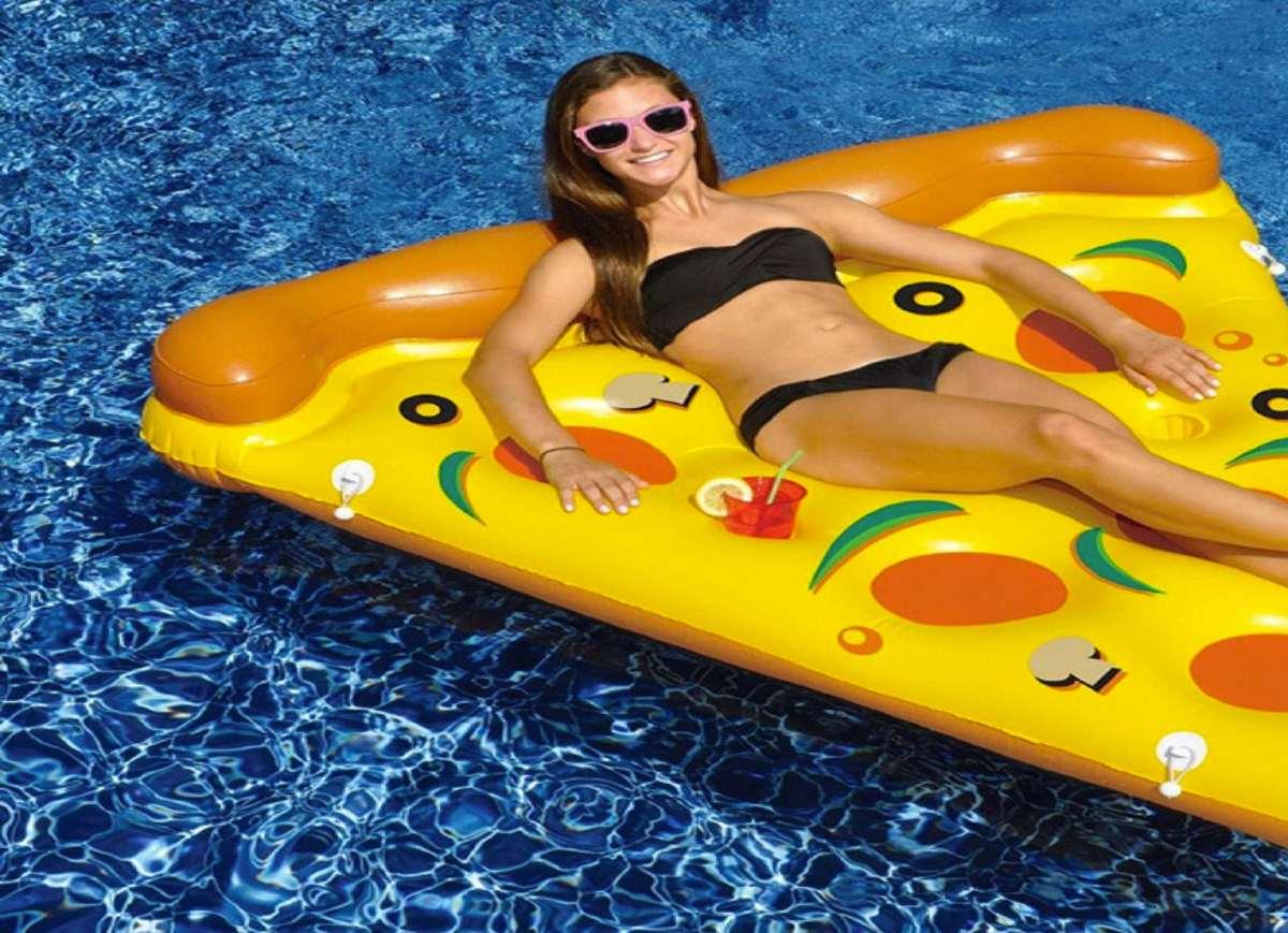 whole pizza pool float. Black Bedroom Furniture Sets. Home Design Ideas