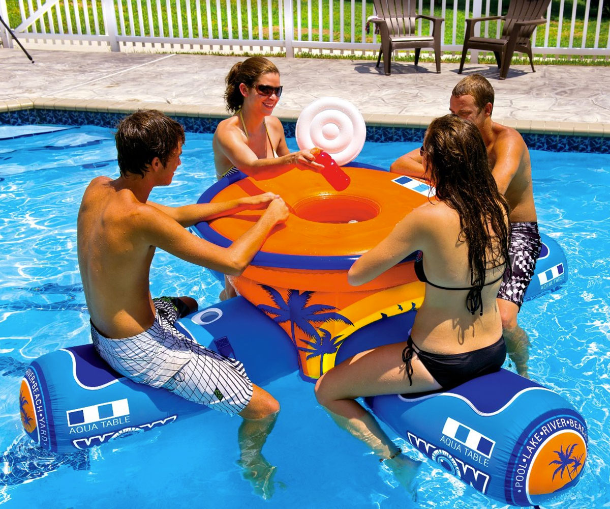 Floating pool bar - Wow Aqua Floating Table Bar
