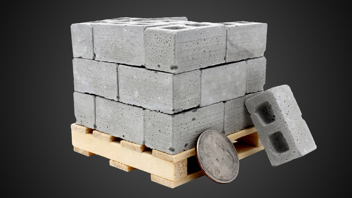 Mini Materials 1:12 Scale Mini Cinder Block Pallet