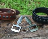 Burls Belt Buckle Knife & Belt