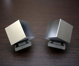 Desktop Tungsten & Aluminum Density Cube Set