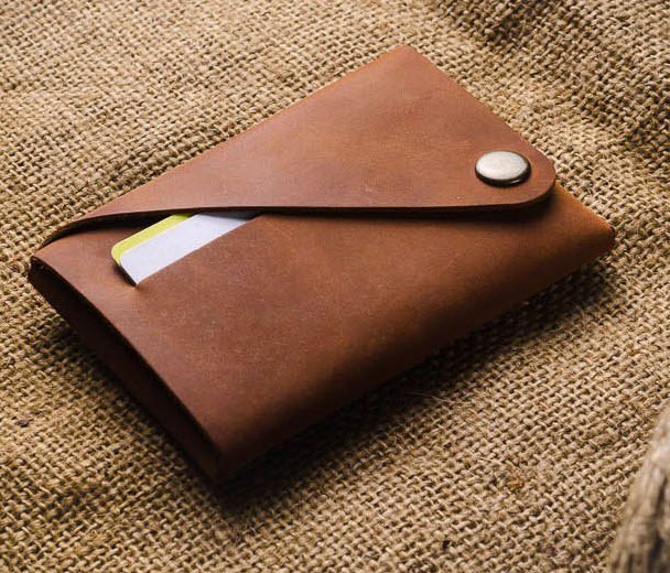 Crazy Horse Craft Origami Leather Wallets   DudeIWantThat.com