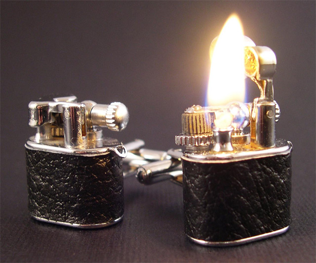 Functional Lighter Cufflinks