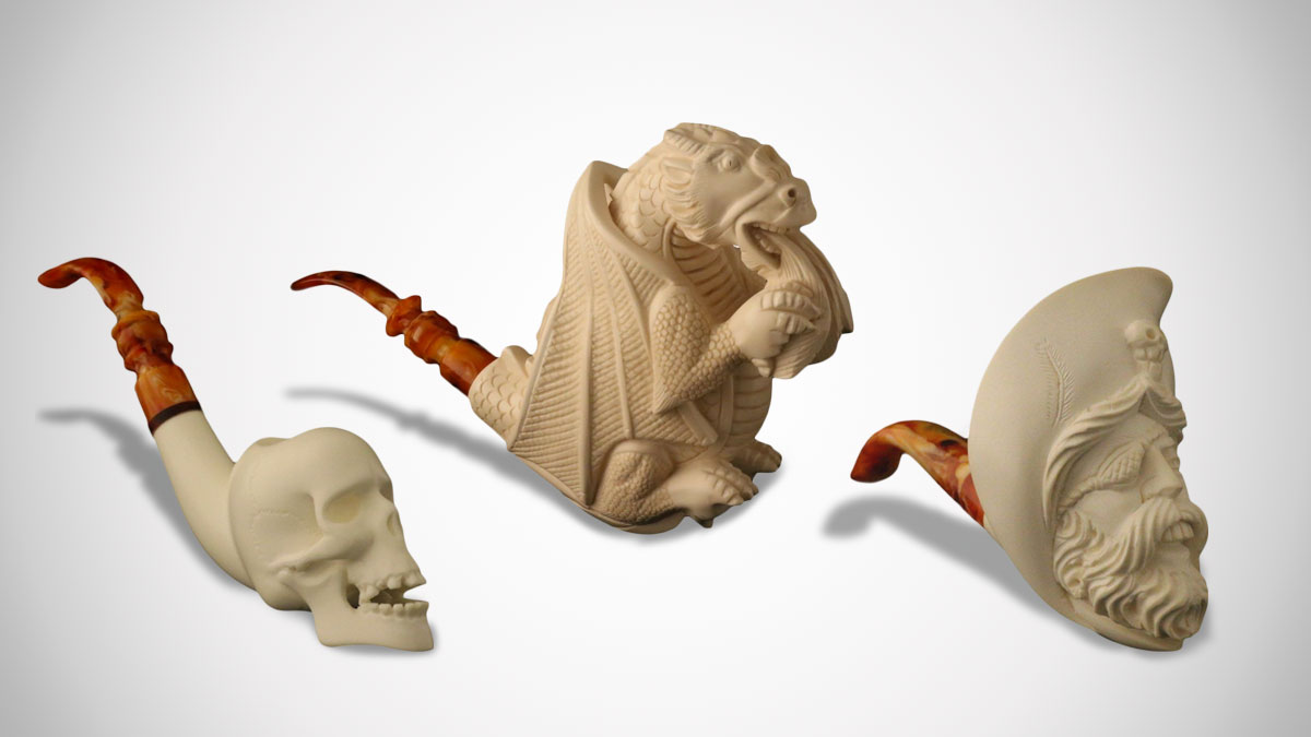 Master Carver Meerschaum Pipes
